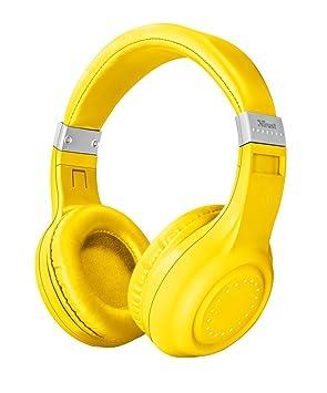 Trust Urban Dura - Auriculares inalámbricos con Tecnología Bluetooth, para Llamadas telefónicas y Música, Color Amarillo: Amazon.es: Electrónica