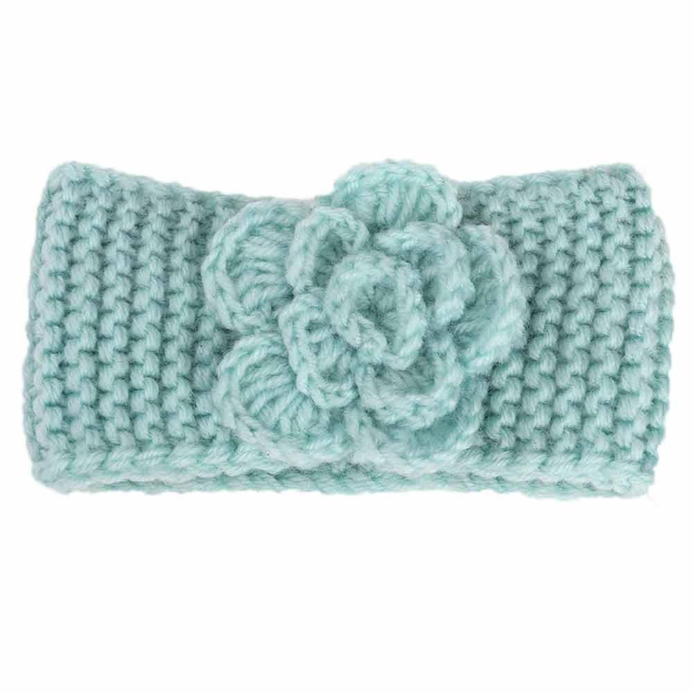 Enfants fille bandeau bébé garder au chaud fleur tricot bandeau accessoires de photographie pour bébé 3mois-4ans)