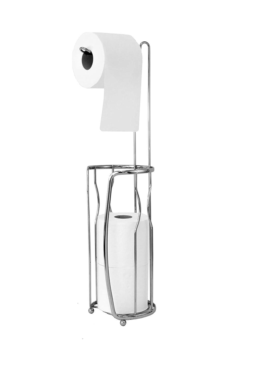 Vanderbilt Home Freestanding Toilet Paper Holder in Silver - Chain Link