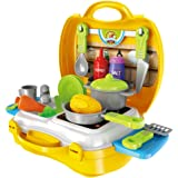 Jim's Stores Cucina Giocattolo per Bambini, Giochi d'imitazione 23 Pezzi Mini Cucina Giocattolo Set Educazione Giocattolo