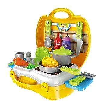 Küchenspielzeug Für Kinder, JIMu0027S STORE Kinderküche Set 23 Stücke Pretend  Küche Spielzeug Kinder Rollenspiele Spielzeug