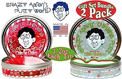 Crazy Aaron S Thinking Putty Candy Cane Hypercolor White Christmas