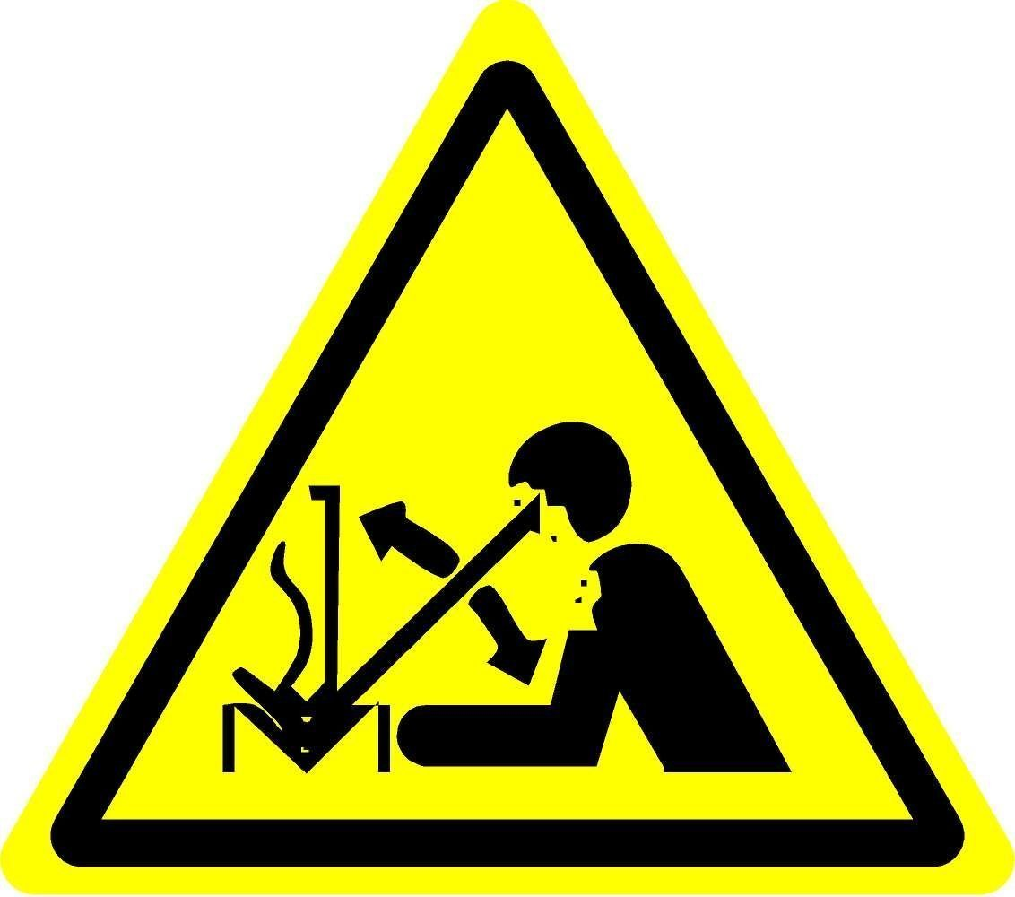 Iso Safety Label Sign International Warning Rapid Movement Of