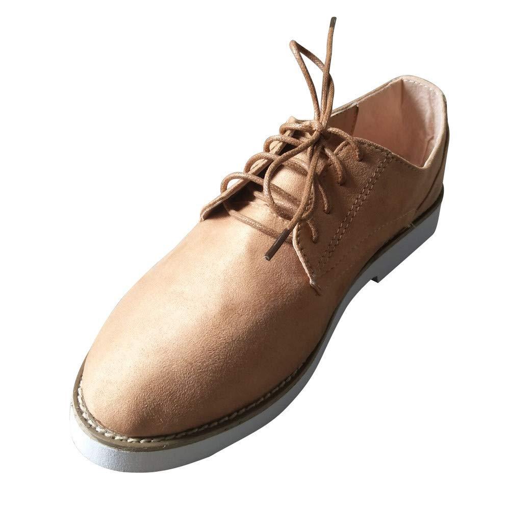 BaZhaHei Damen Schuhe Mode Frauen Runde Kappe einfarbig Knö chel flach Wildleder Casual Schnü rschuhe Sportschuhe Flache Stiefel Schlupfstiefel Schuhe Boots