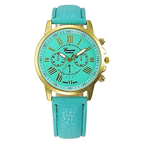 WSSVAN Reloj de Ginebra, reloj de cuarzo analógico de doble cara con ...