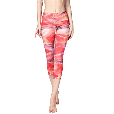 e084ed02ca3076 Cropped Trousers Sport Clothes Print Capri Pants Fitness Gym Yoga Pants  Running Tights Leggings,red