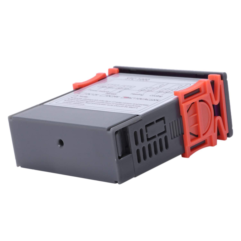 Sonda de Sensor Gaoominy 220V Digital STC-1000 Controlador de temperatura Regulador del termostato