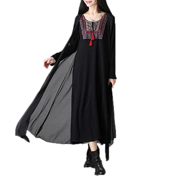 NEW New Autumn dress Vintage Long Dress loose Large Size Solid knitting