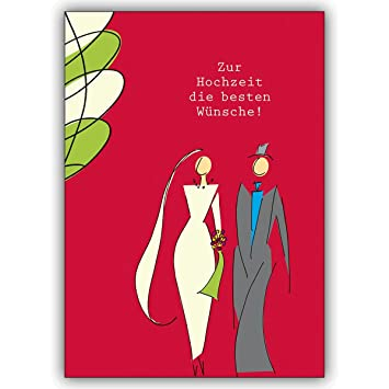 4 Hochzeitskarten 4er Set Hochzeits Gluckwunsche Mit Modernem