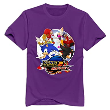 Amazon.com: Sonic Adventure 2 Battle Logo Cartoon O-Neck T Shirt ...