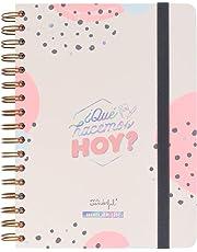 """Mr Wonderful 2019/20 Diario - Agenda Clásica """"¿Qué hacemos hoy?"""", 17 x 22,1 x 2,8 cm, 368 Páginas, Rosa"""