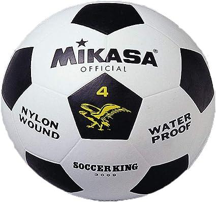 MIKASA 3009 - Balón de fútbol, Color Blanco/Negro, Talla 4: Amazon ...