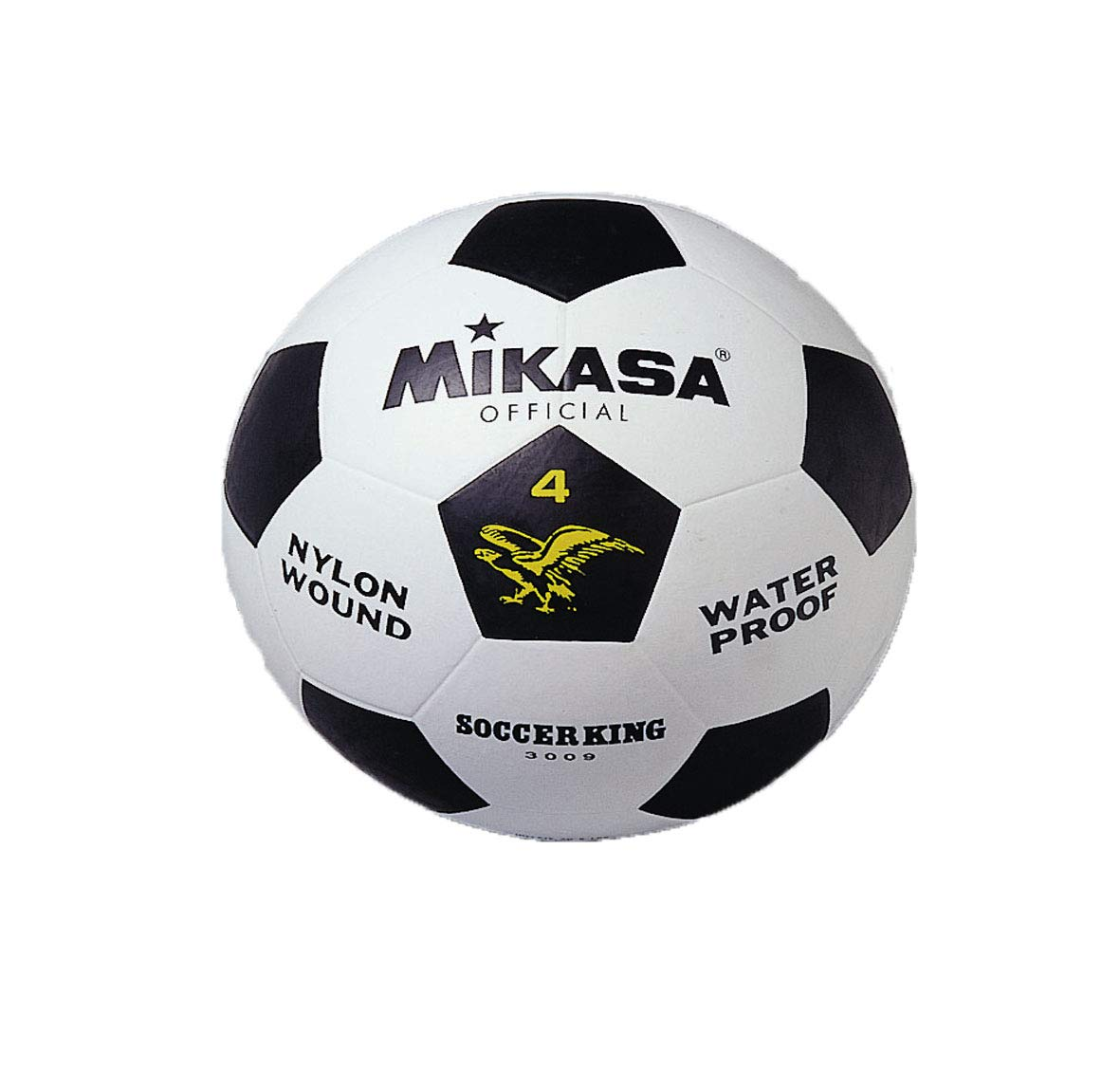 MIKASA 3009 - Balón de fútbol, Color Blanco/Negro, Talla 4: Amazon ...