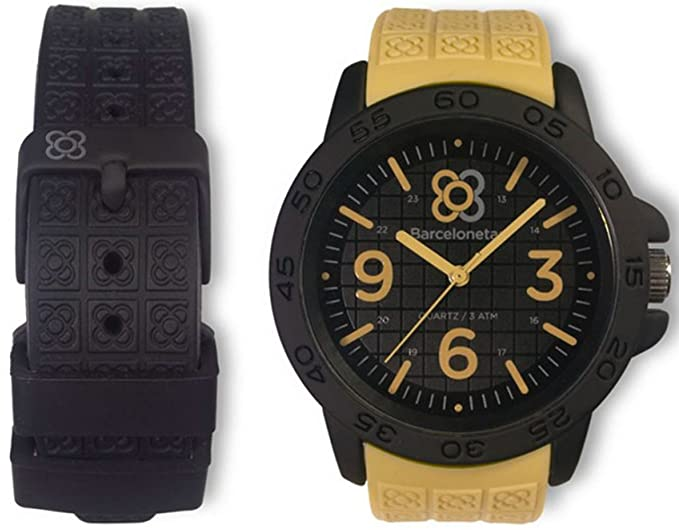 Barcelonetas Sport SAND-BLACK relojes unisex W01SD