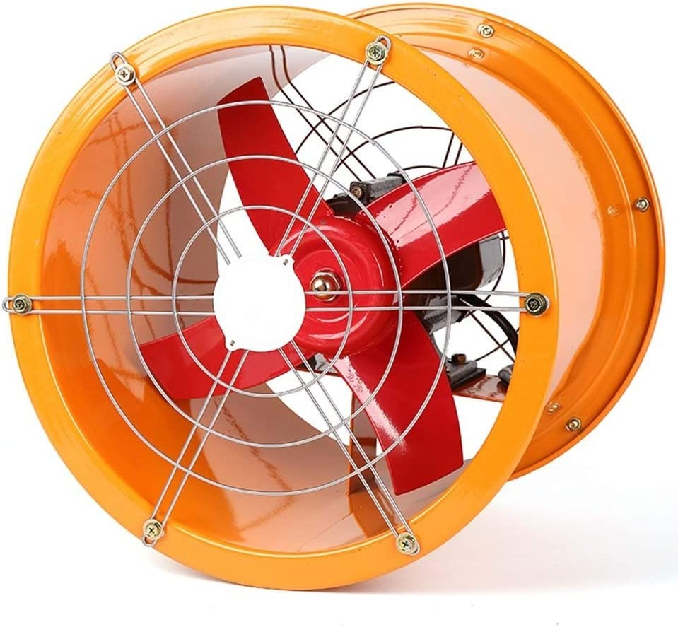 YINUO Fans Ventilador eléctrico de Alta Velocidad del Acero Inoxidable Extractor Industrial/Cilindro del Taller Potente Extractor del Humo de la Cocina/ Campana Creativa/Ventilador de ventilación: Amazon.es: Hogar