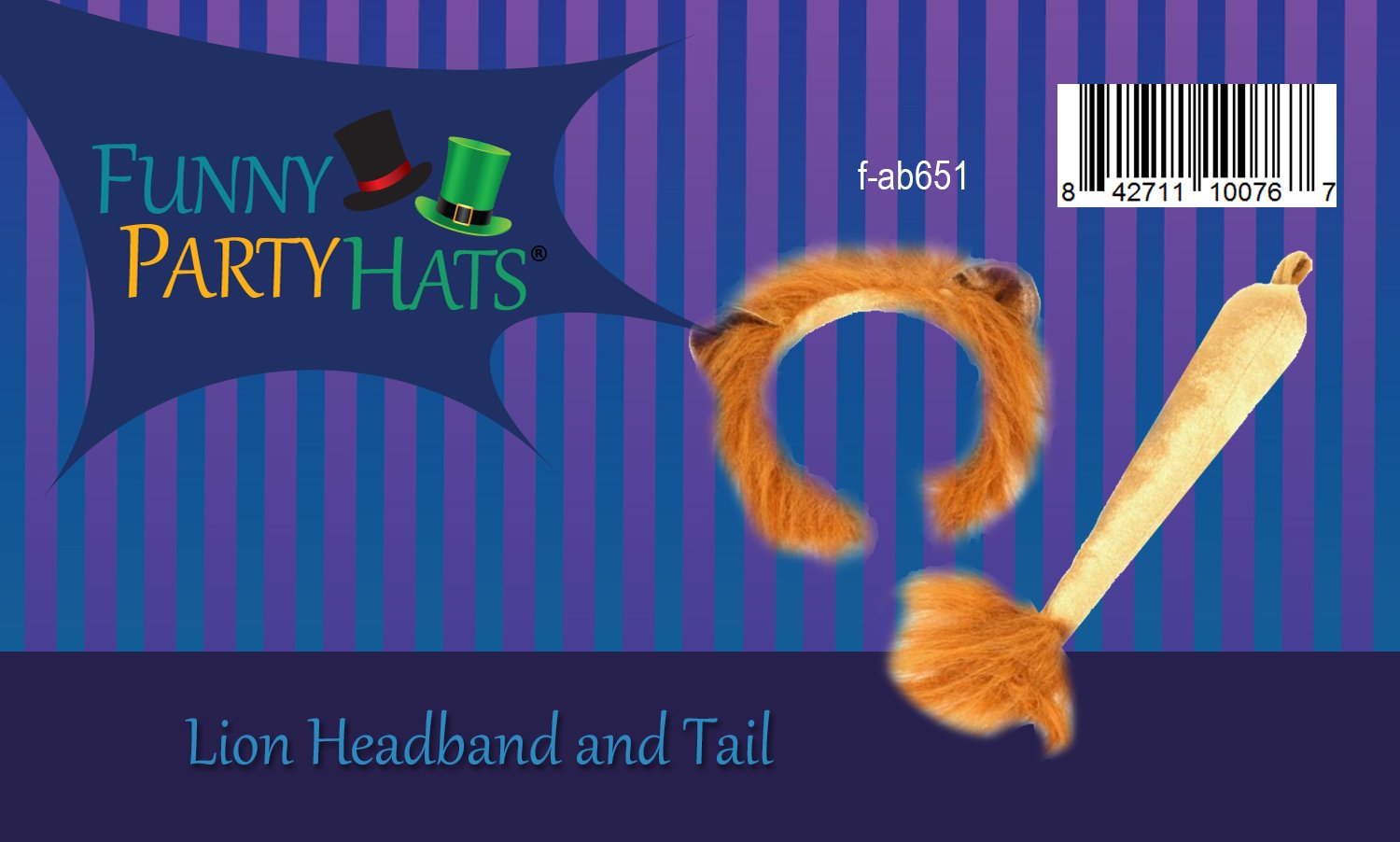 Funny Party Hats Lion Ears and Tail Set - Lion Costume - Ears Headband - Animal Headbands with Ears by Funny Party Hats (Image #4)