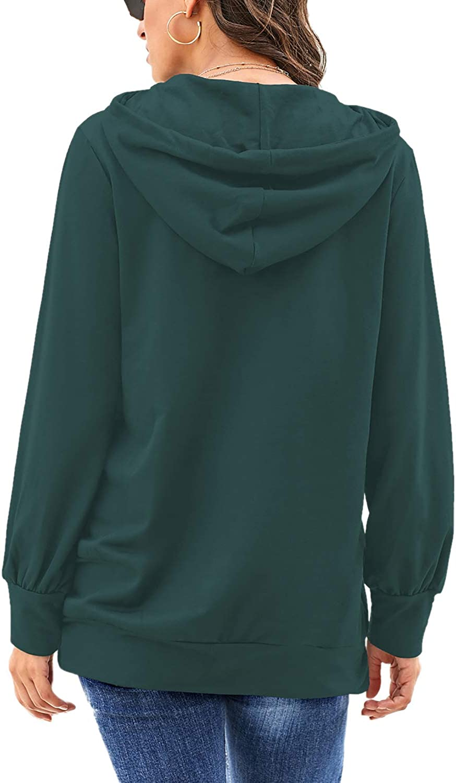 FEKOAFE Women Sweatshirts and Hoodies Drawstring Sweatshirts Casual Tunic Tops