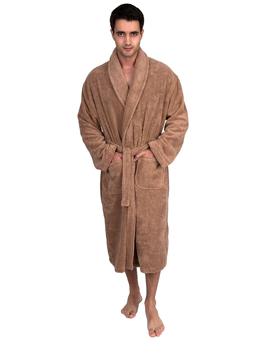 TowelSelections Men's Organic Cotton Bathrobe Terry Shawl Robe Made in Turkey