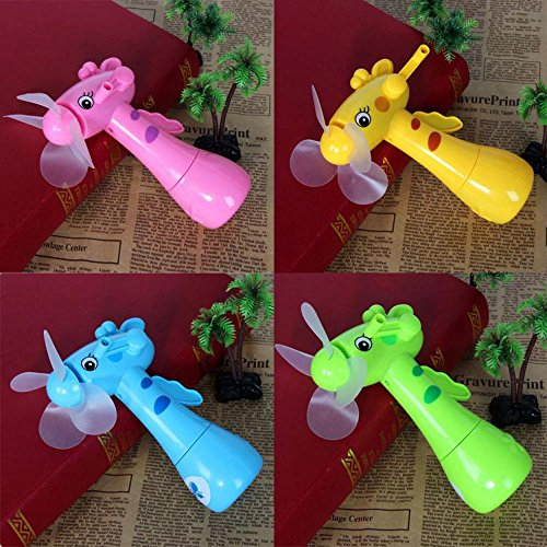 Iulove Portable Kids Toys Manual Hand Mini Fan Handheld No Battery Operated for Cooling
