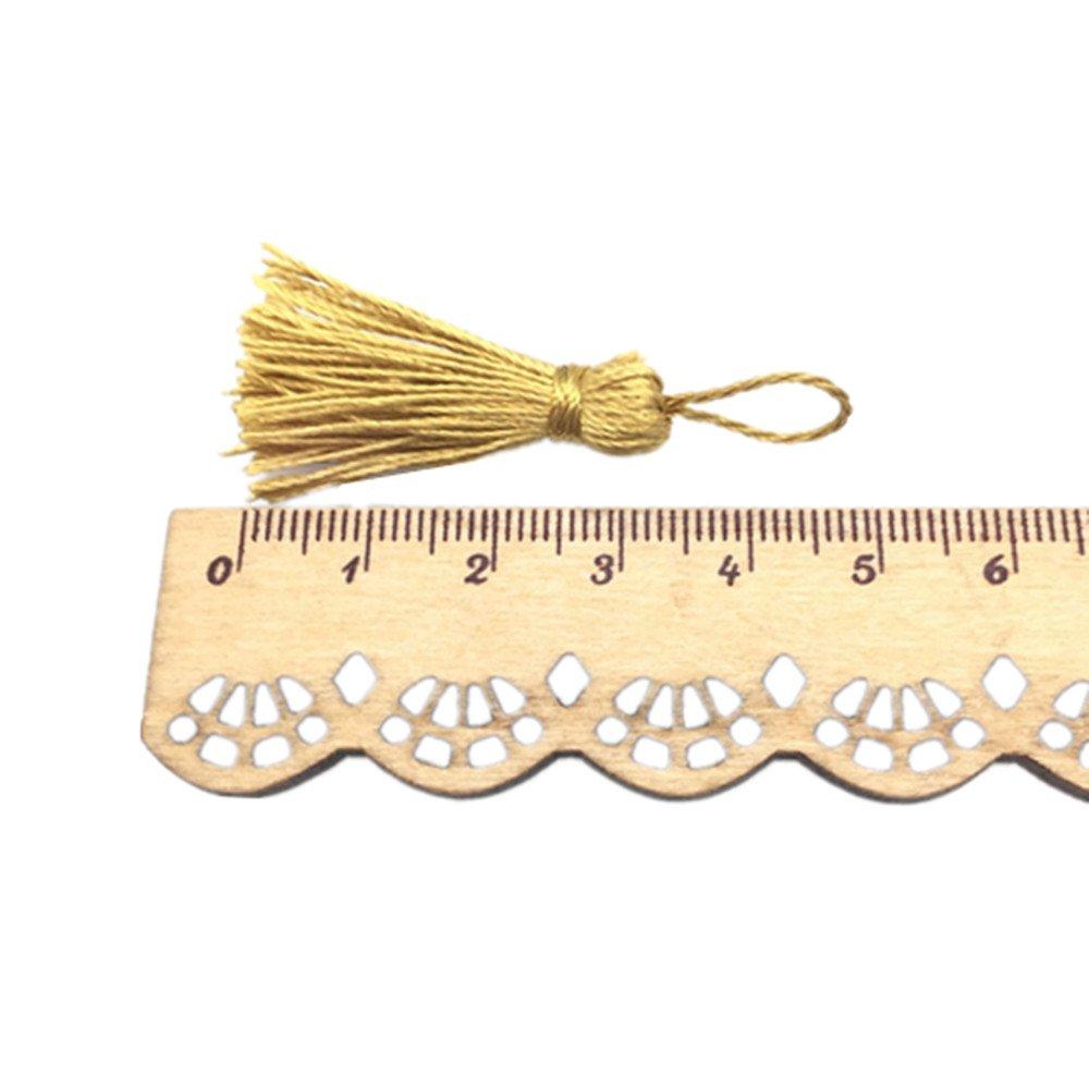 OZXCHIXU(TM) 20PCS golden Mini Small Craft Tassels 5.5cm long for Decorative Key Cushion 4337038514