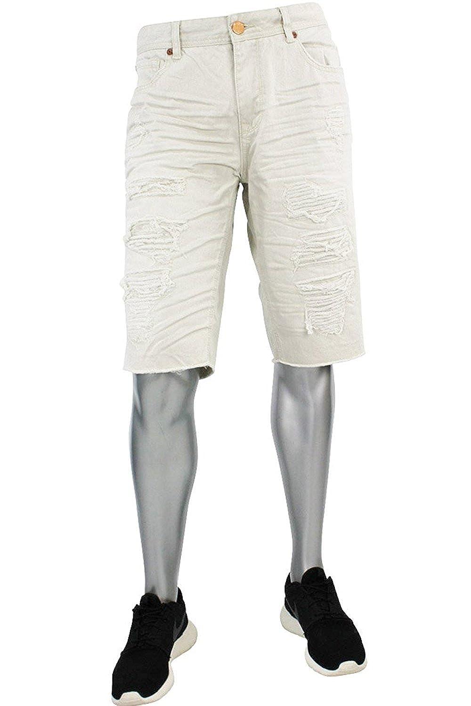 77ab7c2ee68 Jordan Craig Shredded Denim Shorts from Legacy Edition at Amazon Men's  Clothing store: