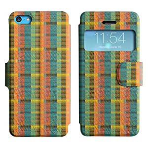 LEOCASE círculos fresco Funda Carcasa Cuero Tapa Case Para Apple iPhone 5C No.1005353