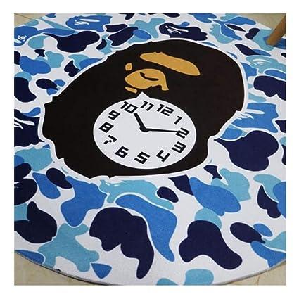 d5dbcb28 Amazon.com: Bape Camo Soft Round Area Rug Thicken Kitchen Bedroom ...