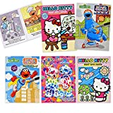 Gift Boutique Paint with Water Activity Book - Sesame Street Elmo Hello Kitty Lisa Frank Set of 5 for Kids Toddlers & Girls Mess Free Travel Coloring Books