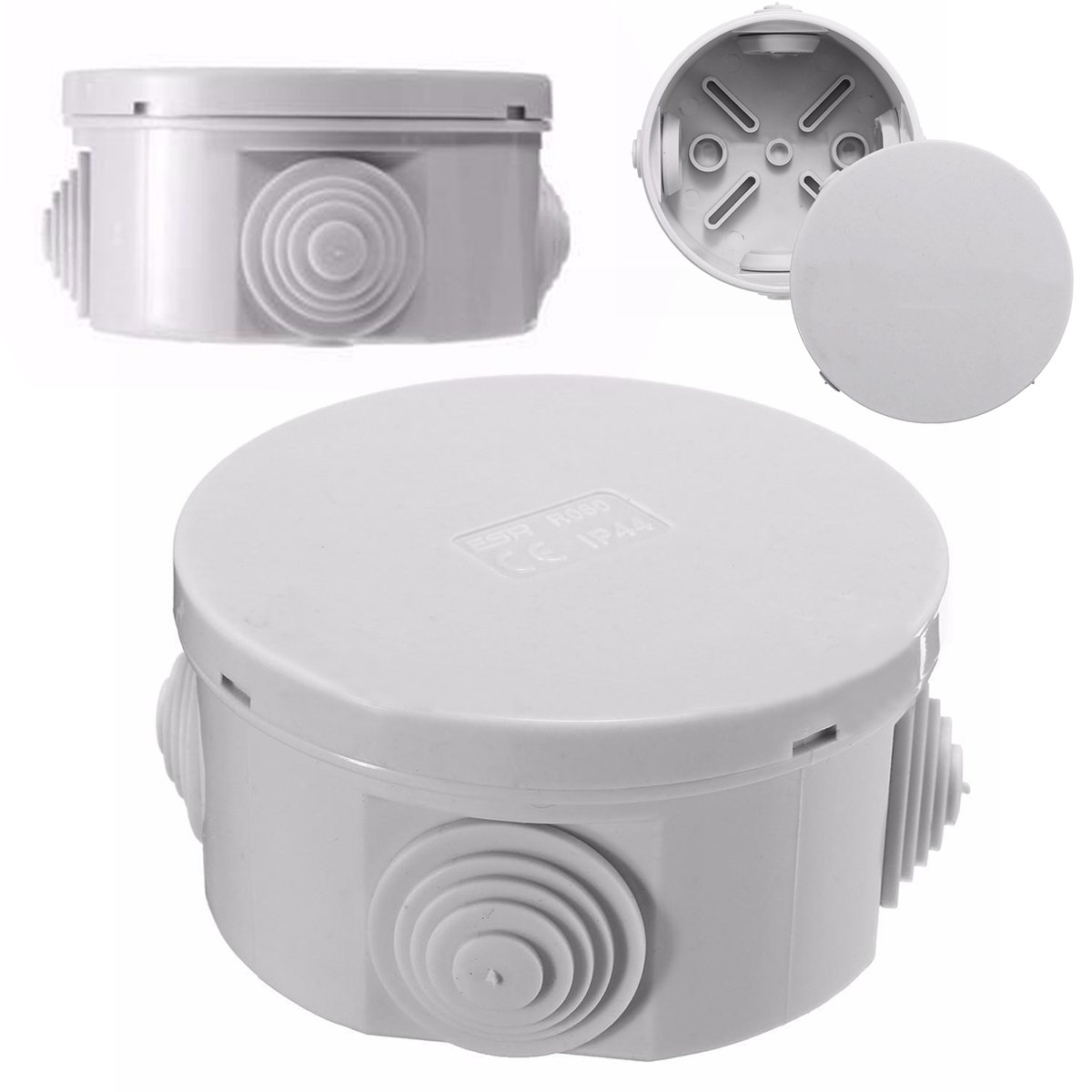 Round Waterproof Weatherproof Junction Box Plastic Electric Enclosure Case NaroFace