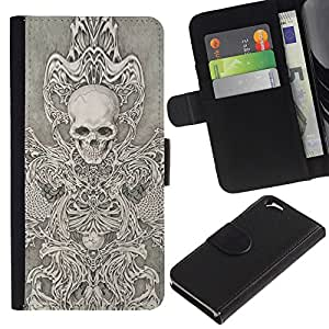 ZCell / Apple Iphone 6 / Skull Throne Anger Abstract Metal / Caso Shell Armor Funda Case Cover Wallet / Cráneo Trono Enfado abstracta Met