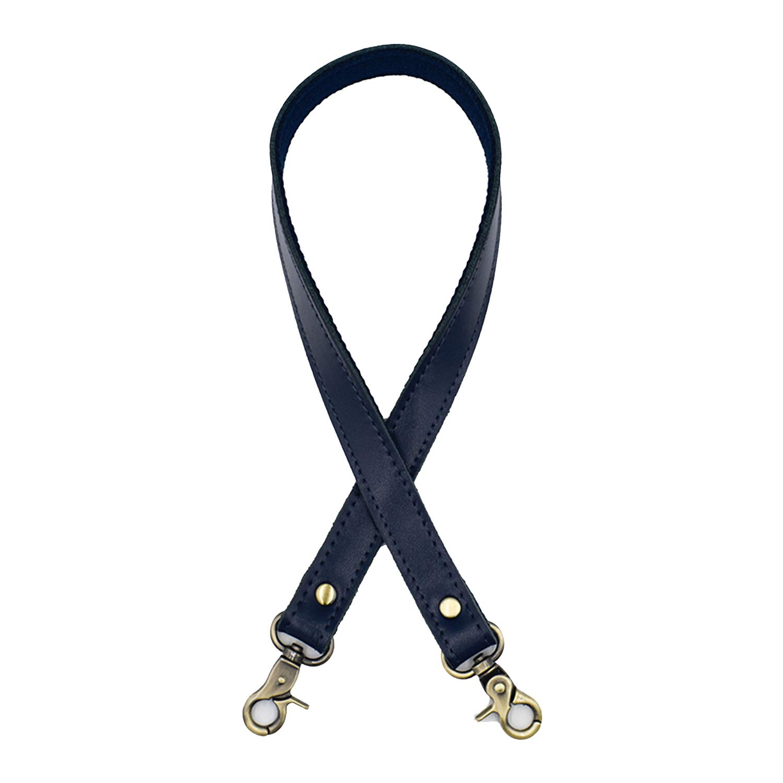 asas negras con cierre dorado talla /única azul real Correa de piel para bolso de mujer de 58 cm accesorios para bolsas