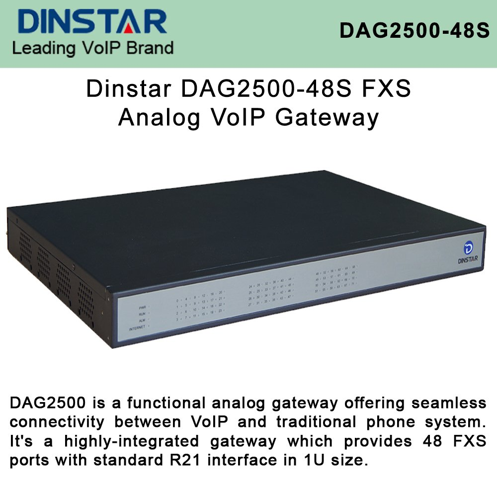 Dinstar DAG2500-48S FXS Analog VoIP Gateway