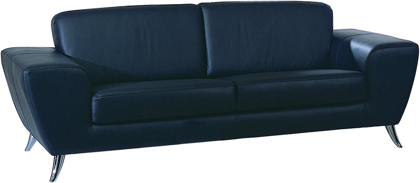 BH Design Leather Match Sofa, Black/White
