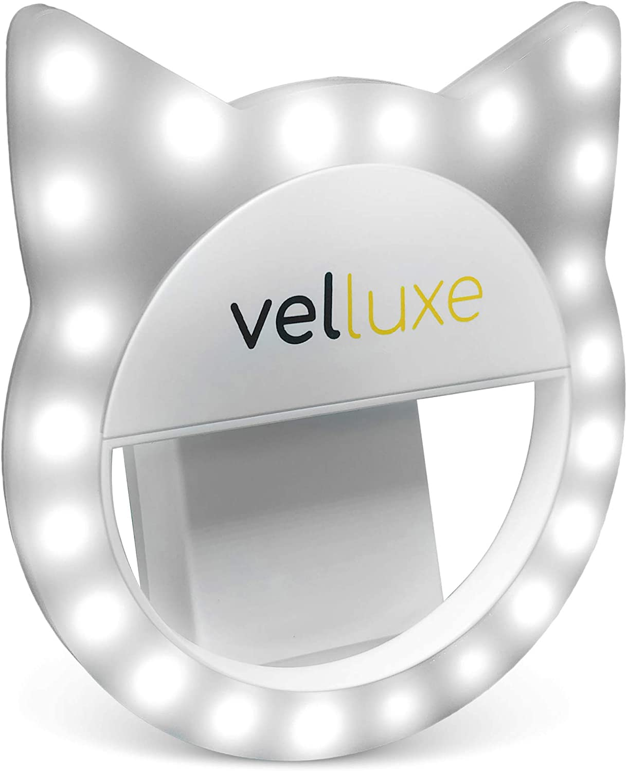 velluxe Clip On Selfie Light - Portable Ring Light for Laptop iPhone/Android Smart Cell Phone Photography Makeup Mirror Zoom, 3 Different Brightness Levels
