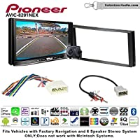 Volunteer Audio Pioneer AVIC-8201NEX Double Din Radio Install Kit with GPS Navigation Apple CarPlay Fits 2012-2014 Subaru Impreza