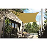 DOEWORKS Rectangle 10' X 13' Sun Shade Sail, UV Block for Outdoor Patio Garden Facility and Activities, Sand