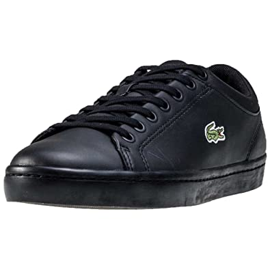 8a66a5816b1 Amazon.com | Lacoste Mens Straightset SPT 316 1 SPM Black Leather ...