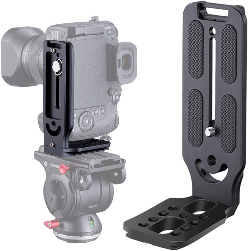 Soporte L vertical horizontal DSLR Camera Canon Nikon Sony
