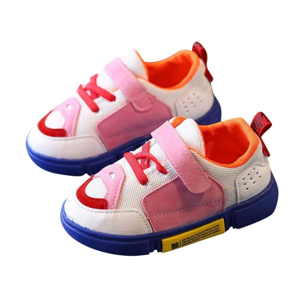 ZODOF Niños Niños Niños Niñas Mezclado Colores Patch Mesh Sport Running Zapatos Casuales