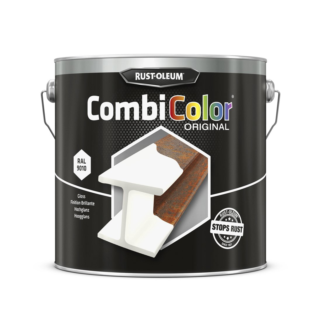 RUST-OLEUM 7392.2.5 Combicolor Original, Superior Metal Protection, Direct To Rust, White-RAL 9010