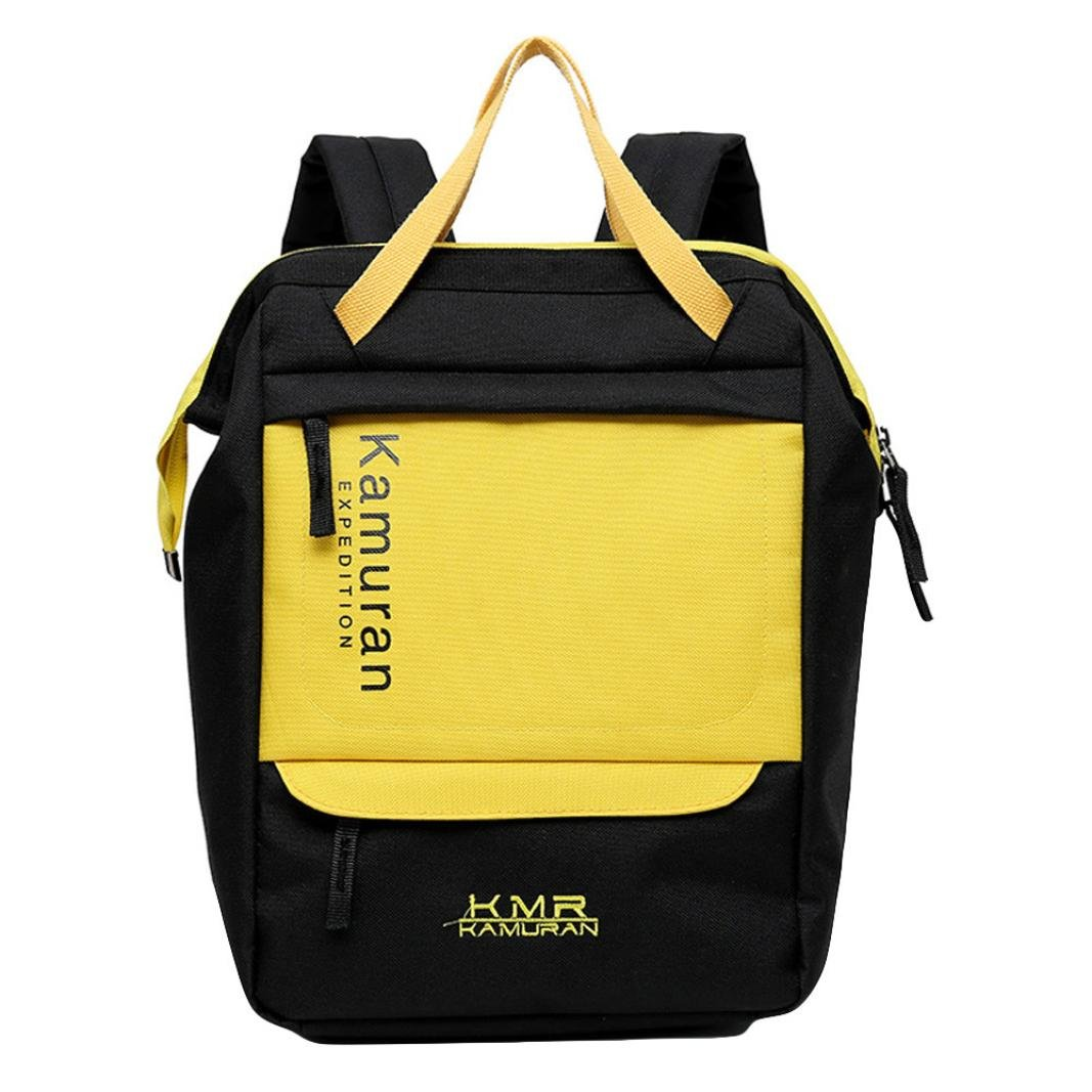 Fashion Bag, Jinjin Unisex Fashion School Style Sequins Travel Satchel School Bag Backpack College Vintage Travel Bag (Yellow)