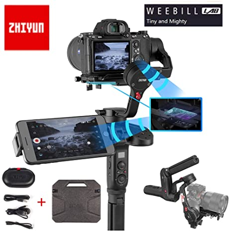 Zhiyun WEEBILL Lab 3-Axis Handheld Gimbal Stabilizer for Almost All Mirrorless Cameras,Smartphone