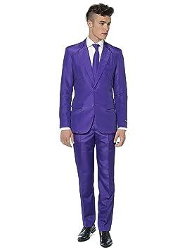 Generique - Traje Mr Solid Violeta Suitmeister Hombre XXL: Amazon ...