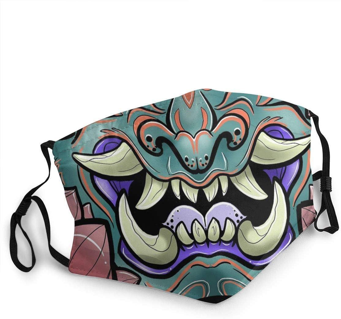 Oni Samurai Yokai Japon Tissu Lavable r/éutilisable Adulte Absorbant bact/ériostatique Bandes Bouche Nez Haute Qualit/é Plusieurs Mod/èles