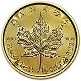 15.55 グラム 純金 カナダ メイプルリーフ 20ドル 金 ゴールド コイン 24K 1/2オンス 金塊 金地金 インゴット 金貨 カプセル クリアーケース付き