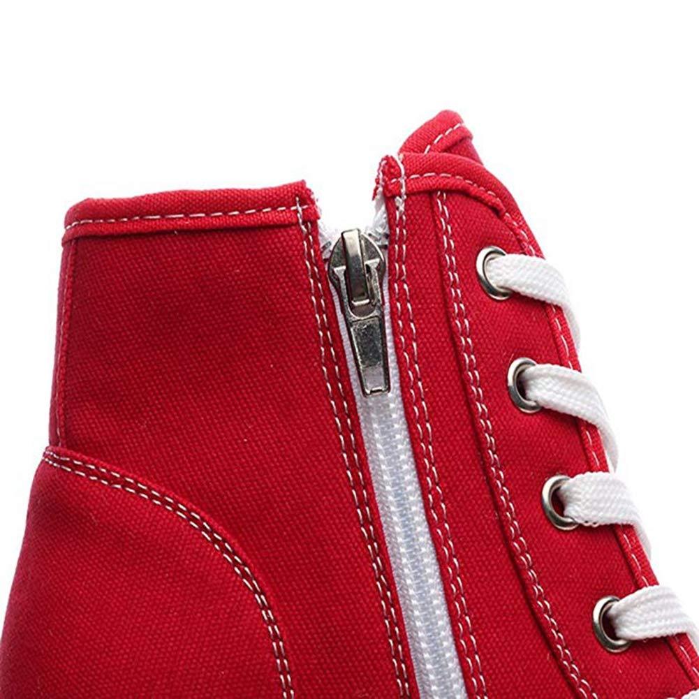 monsieur / madame t-july femmes baskets toile à chaussures chaussures à toile plate - forme des coins silos occasionnels des bottines haut talons cachés privilégiée durables w g23438 fo rte cha leur etla résistance à la chaleur d52a90