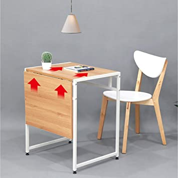 Amazon Com Vimele Folding Dining Table Modern Minimalist 2 Person Double Small Dining Table Multifunctional Folding Telescopic Table Square Dining Table Color White Tables
