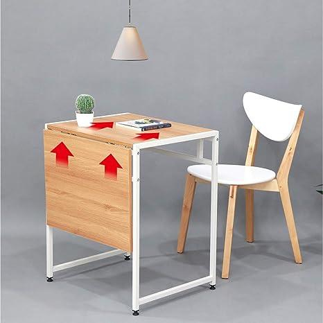 Amazon.com: Vimele Mesa de comedor plegable moderna ...
