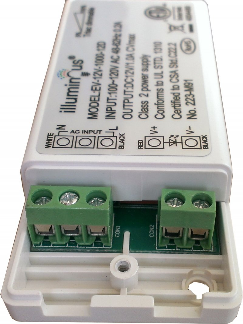 12V 12W Dimmable CV DC LED Driver ETL (UL) approved