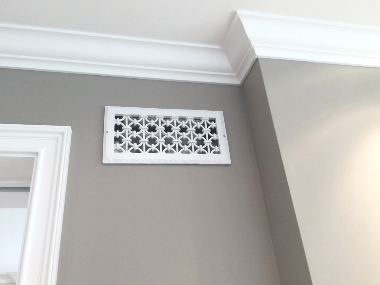 Decorative Return Air Vent Cover Decorative Vent Cover For A 16x8 Opening Resin Paint Grade Grille